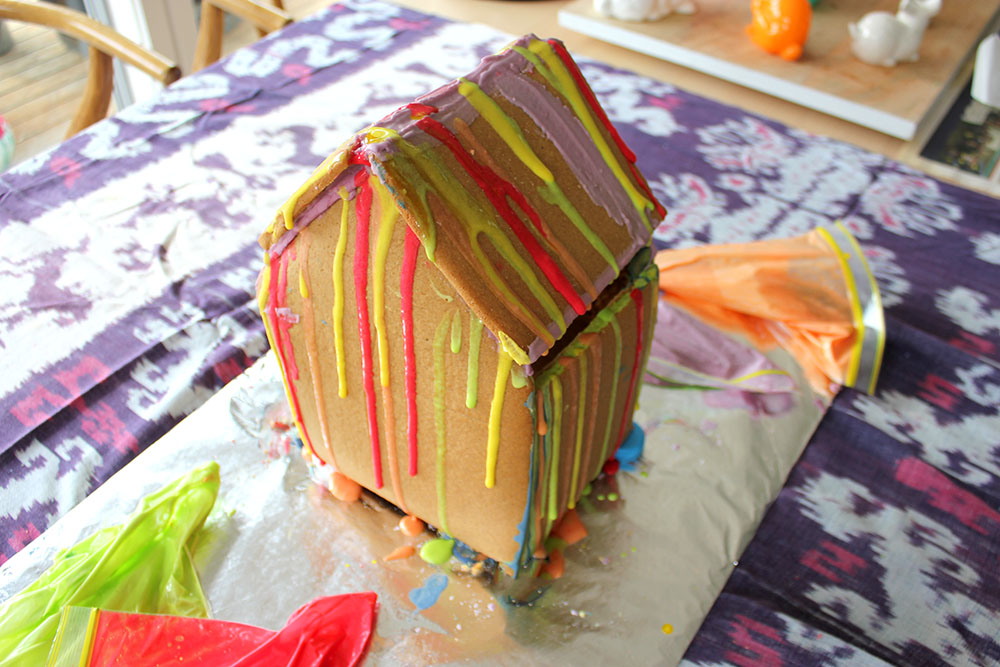 Rainbow Gingerbread House www.cherryandme.com