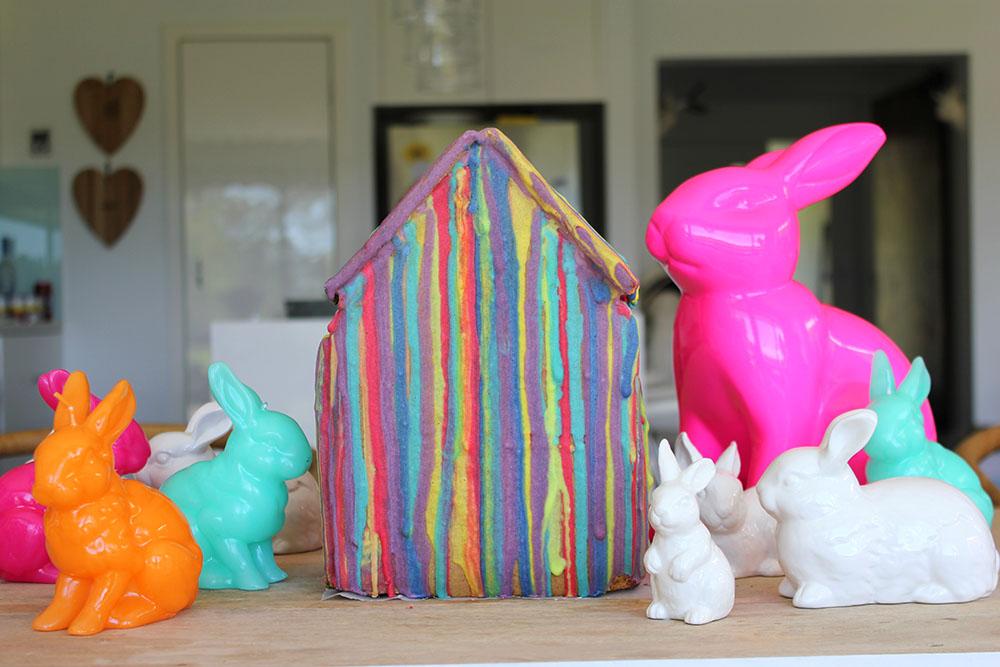 Rainbow Gingerbread House www.cherryandme.com