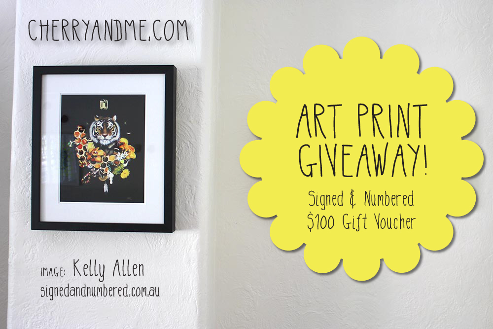 Signed and Numbered Giveaway cherryandme.com