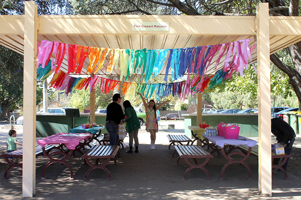 Rainbow Streamer Decoration Garland cherryandme.com
