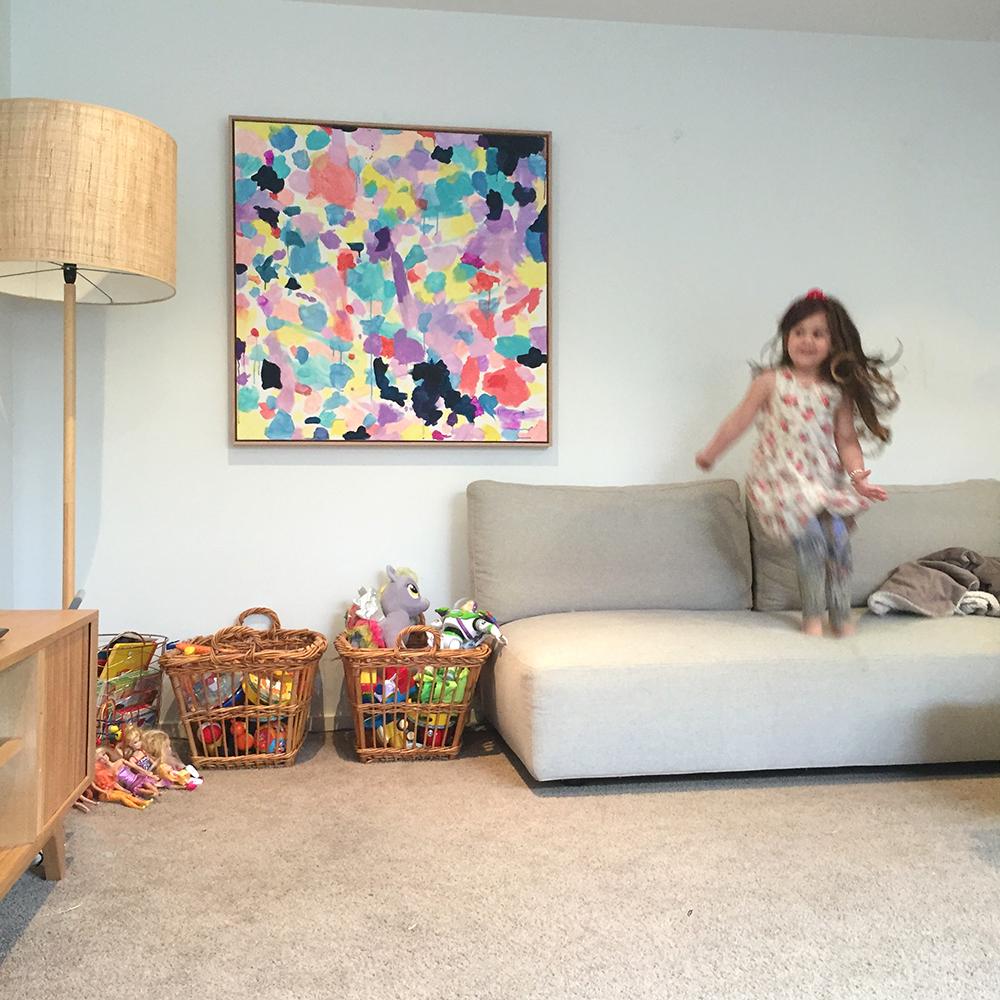 Lilac Couch cherryandme.com